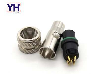 waterproof circular shield M series plug M12 5pin female connector