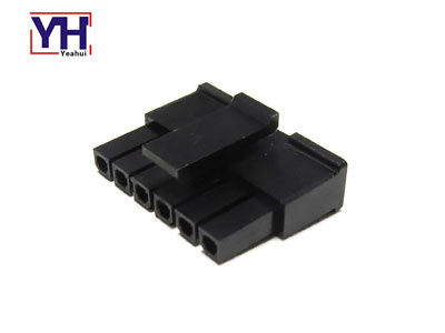 molex 3.0mm pitch single row housing 6 pin connector 43645-0600