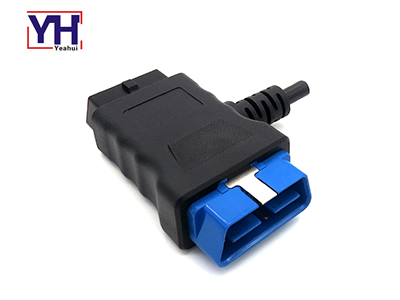 Durable Over Molded J1962M/F Pass-thru to Open End OBD2 Converter Cable