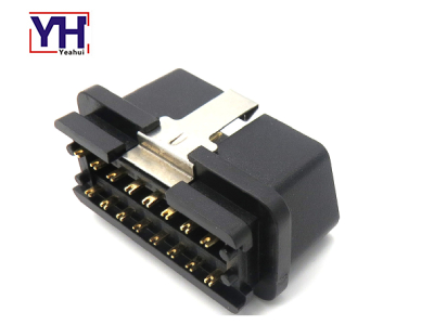 YH1033 12V New OBDII Male Waterproof Car Connector POCAN Material