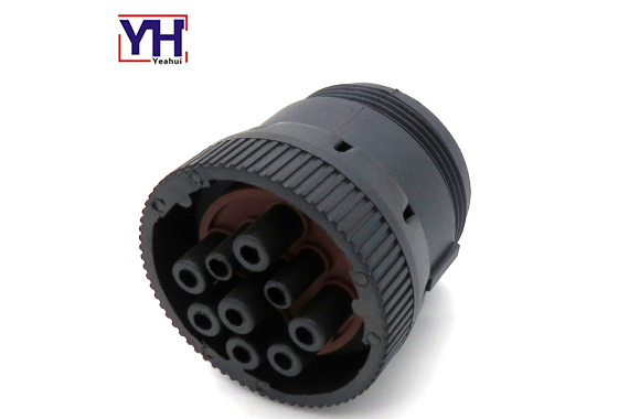 YH6006 9pin SAE J1939 Truck Diagnostic Connector Receptacle With