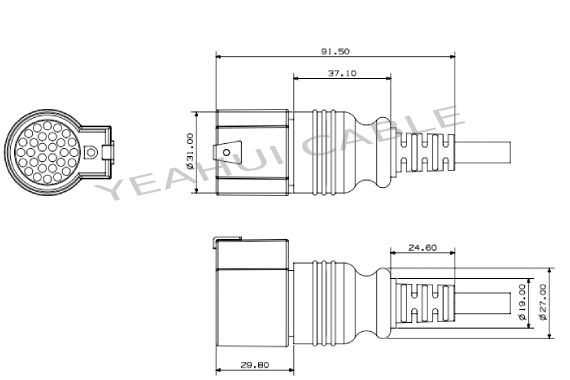 IVECO 30P female connector