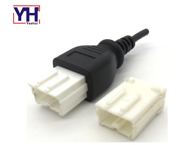 YH6024 Male Yakazi 10pin Male Connector In PVC Molding For Truck Service Tools Factory