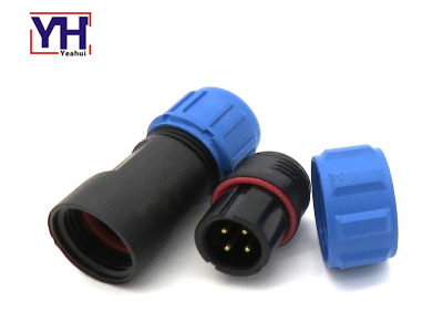YH7008 4P Plug With Black Core For Marine Electrical System