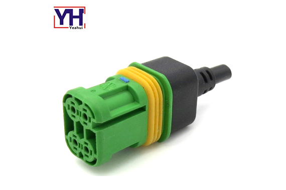 4pin female connector with green core
