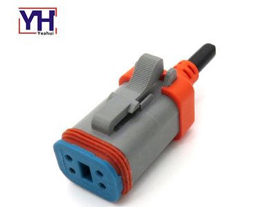 YHDT06-4S Replacement 4pin Female Marine Connector With Grey Core