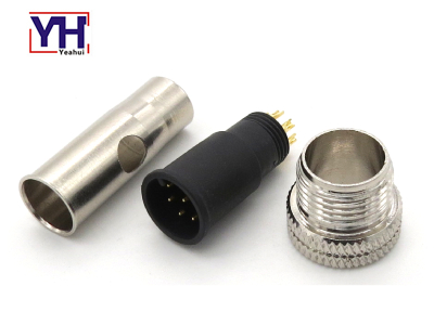 M12AM08713763SH M12 8pin Male Round Connector For Fuel Flow Measurement