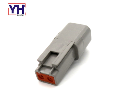 YHDT04-2P Agriculture Deutsch 2pin Male Connector On The Agricultural Machinery