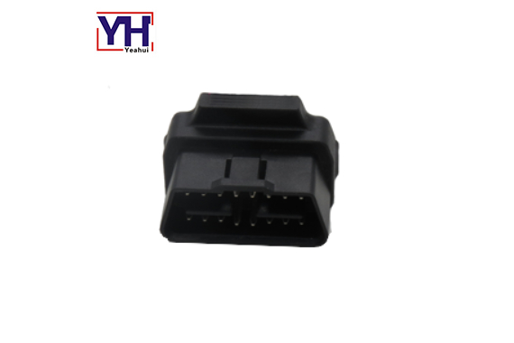 24V OBDII male right angle connector