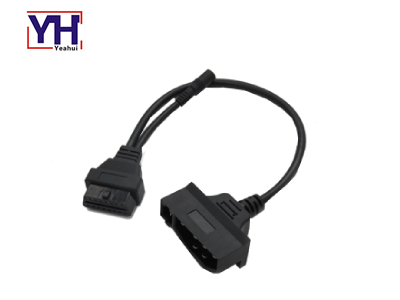 YH2037-2 7pin Diagnostic Connector Automotive With PVC Molding