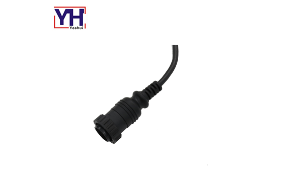 14pin electrical plug with PVC molding type
