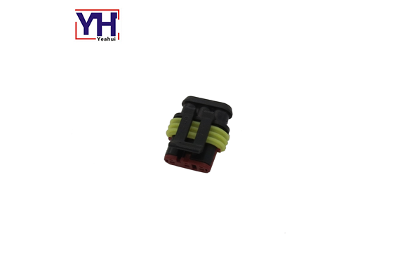 YH8019F Assembly type FIAT 3pin Female motorcycle connector suitable For FIAT