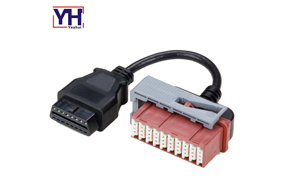 PSA 30pin Female to OBD-16P Female Vehicle Cable