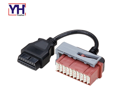 YH2003 to YH1003-1 Peugeot Citroen PSA 30pin Female to OBD-16P Female Vehicle Cable