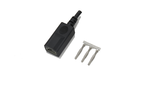 The injection molding temperature of  pin connector is too high