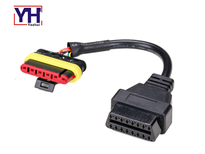 YH8020 to YH1003-2 Denelli 6pin to OBD-16P F Motorcycle Wiring Harness