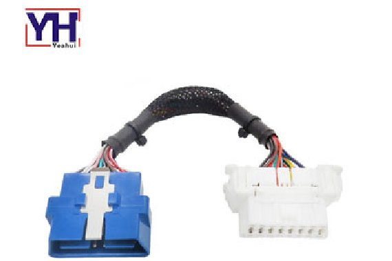 YH1002 to YH1010 OBDII 16Pin Male 24V to OBD 16pin Female Wiring Harness