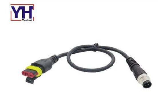 YH282087-1 Fiat 3 pin female to M12 4 pin male diagnostic cable
