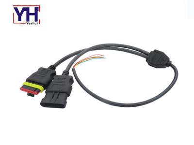 Fiat connector 6 pin female male to open waterproof cable