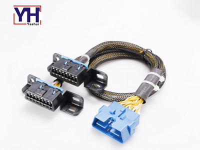 assembly obd 16 pin male to 2 obd female diagnostic tool cable
