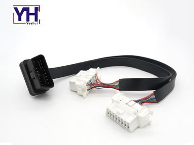 YH1006-4 to 2 YH1010 obd connetor male to female cable for obd diagnostic tool