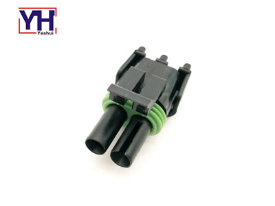 Delphi original connector 12015792 Delphi 2pin black female electrical Connector