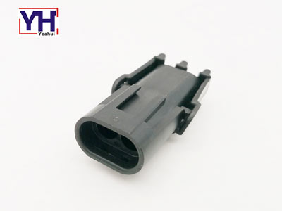 Delphi connector 12010973 Delphi 2pin black male electrical Connector