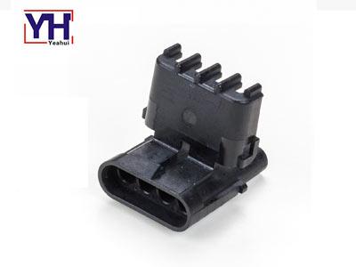 Delphi original connector 12010974 Delphi 4 pin black male electrical Connector