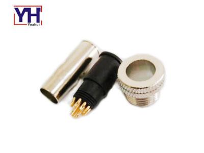 waterproof circular shield  M12 plug 12 pin male connector