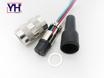 Molding cable M16 7 pin female socket waterproof circular connector
