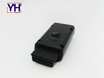 YH1045 female PCB obd connector with plastic housing with switch