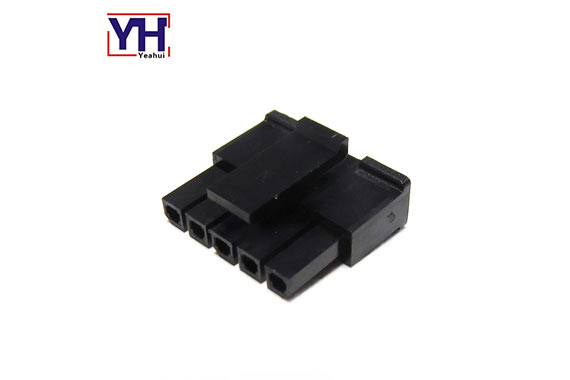 single row molex 3.0mm pitch 5 pin female connector housing