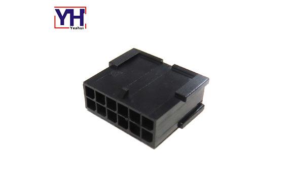 Dual Row 12 Pin 430201201 Black Micro-fit 3.0 Plug Housing