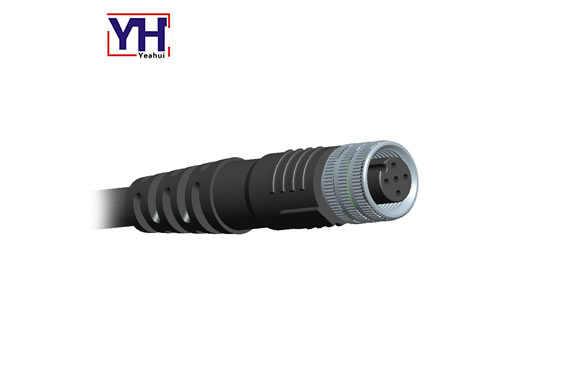M12 Connector 5 Pin Female Cable 5pin Assembly Waterproof Ip68 M12AF05001
