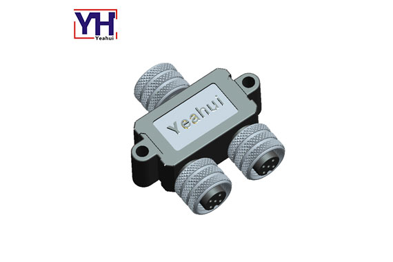 Waterproof Cable Ip68 Adapter Female To Dual Female Y Splitter 5 Pin Circular Connector M12