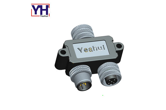 High voltage PVC/PUR insulation water resistance power  M12 5 pin A coding Conversion head